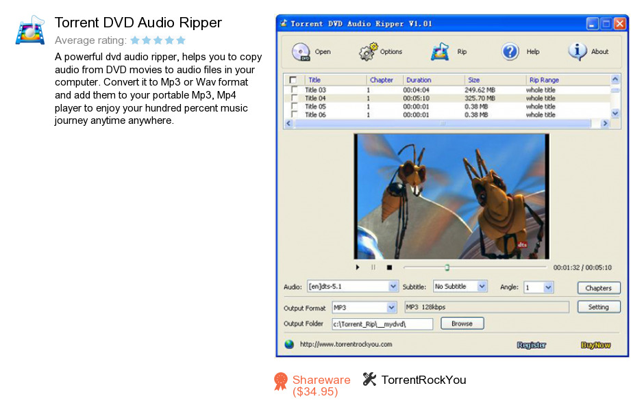 Torrent DVD Audio Ripper