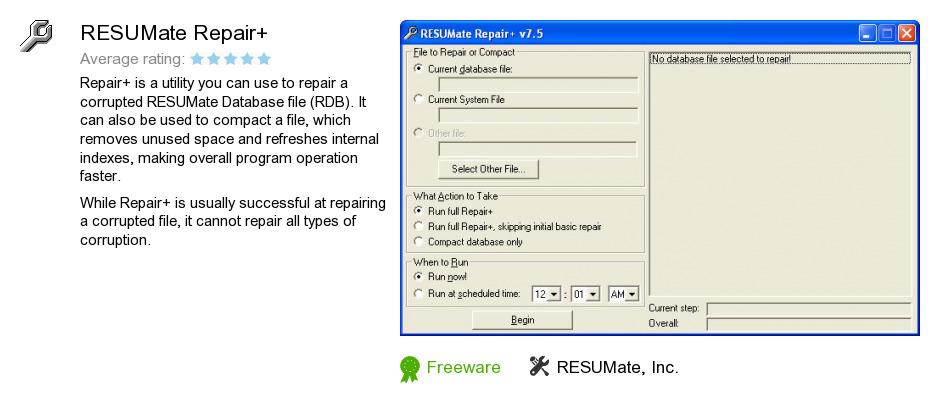 resumate repair