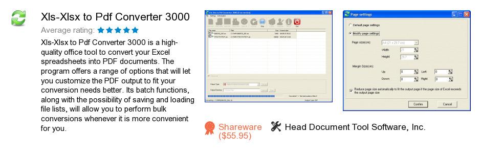 Xls-Xlsx to Pdf Converter 3000