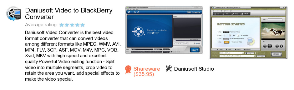 Daniusoft Video to BlackBerry Converter