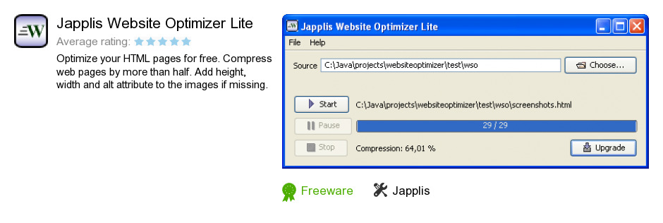 Japplis Website Optimizer Lite