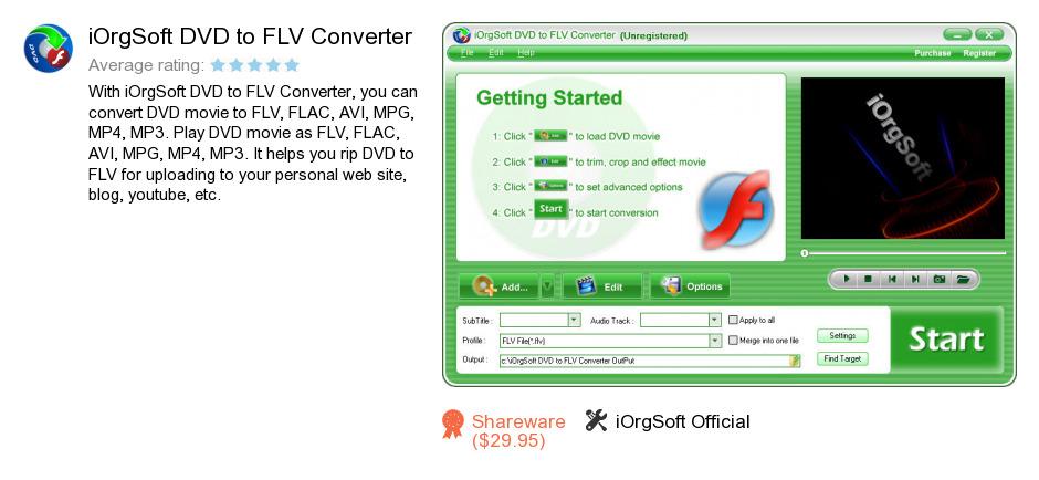 IOrgSoft DVD to FLV Converter