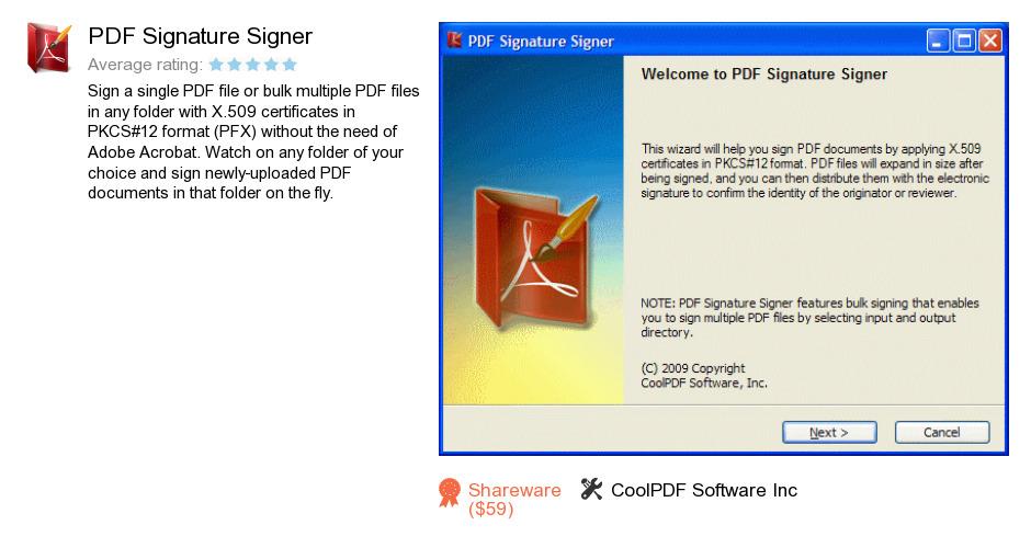 PDF Signature Signer