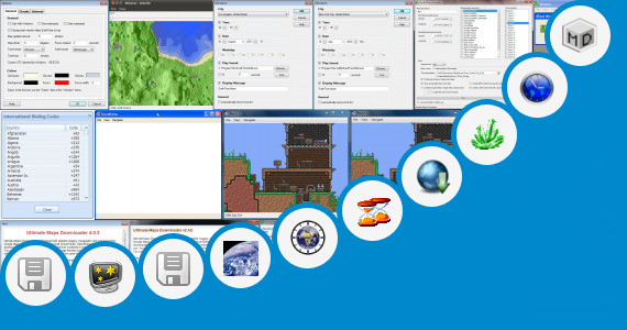 Software collection for Disney World Custom Minecraft Map
