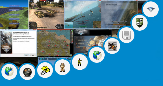 Software collection for World Tank Game Offline