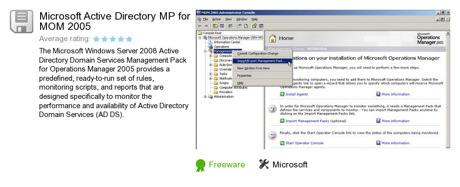 Microsoft Active Directory MP for MOM 2005