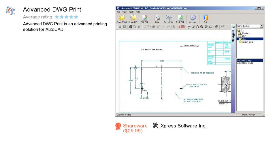 Advanced DWG Print