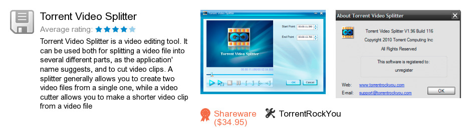 Torrent Video Splitter