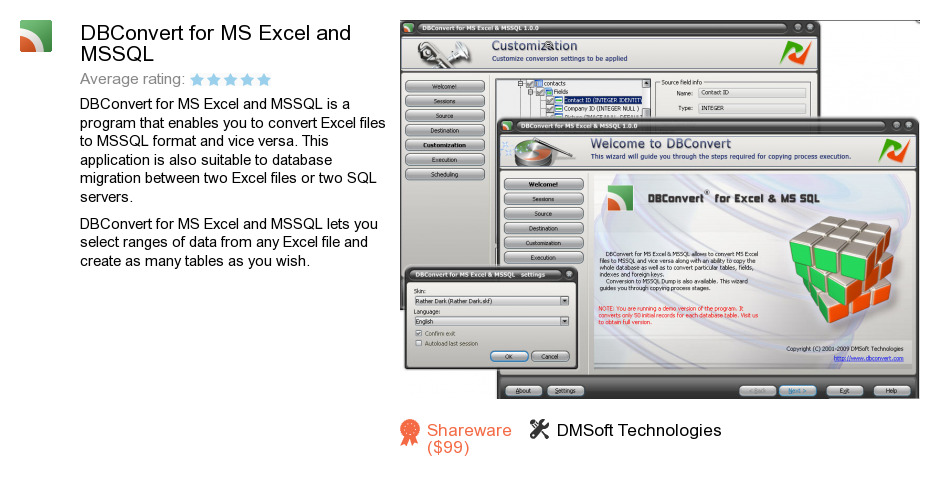 DBConvert for MS Excel and MSSQL