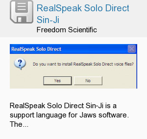 RealSpeak Solo Direct Sin-Ji
