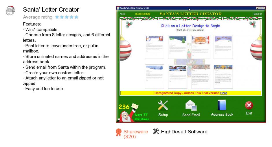Santa's Letter Creator