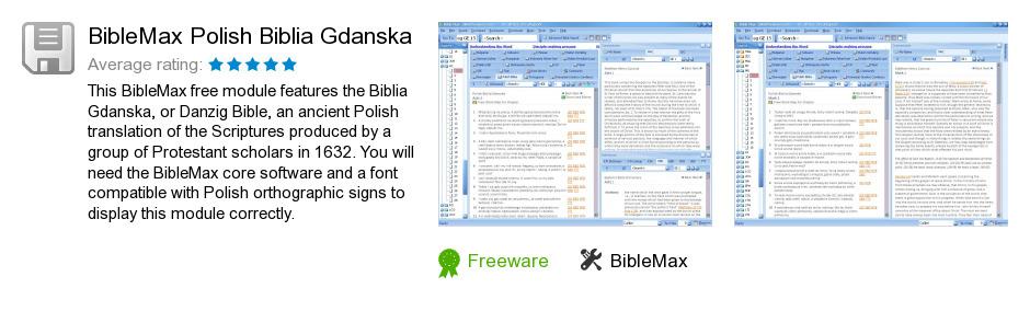 BibleMax Polish Biblia Gdanska