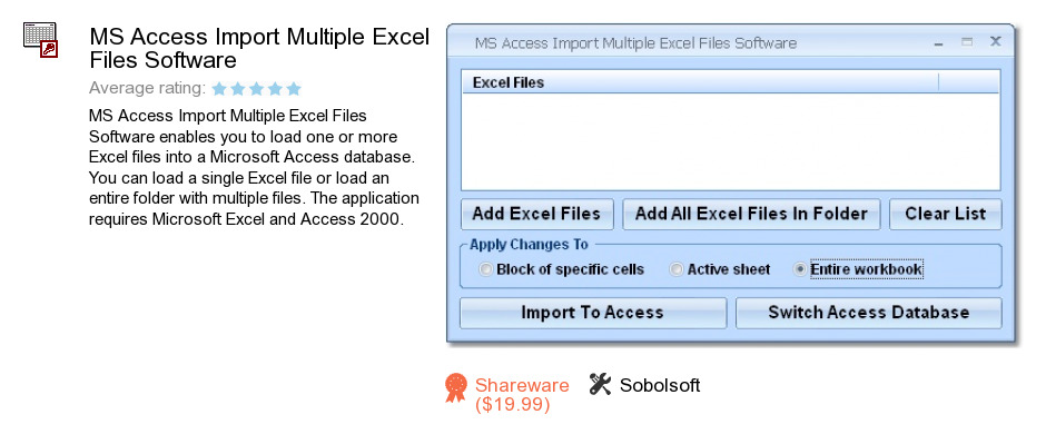 MS Access Import Multiple Excel Files Software