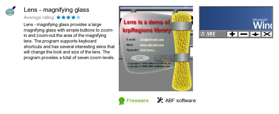Lens - magnifying glass
