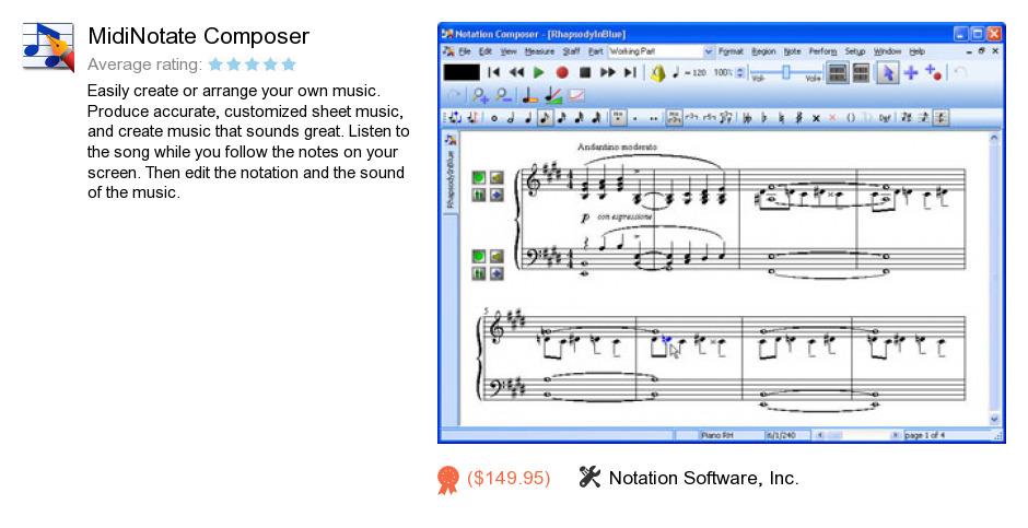 MidiNotate Composer