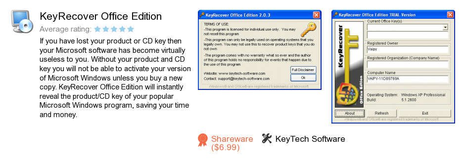 KeyRecover Office Edition