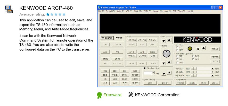 KENWOOD ARCP-480