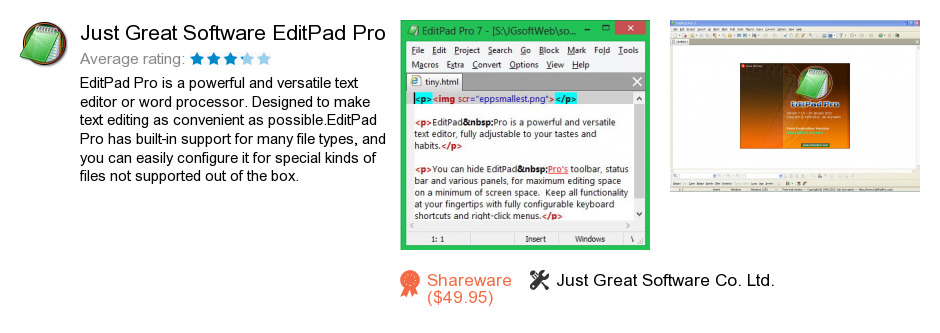 Just Great Software EditPad Pro