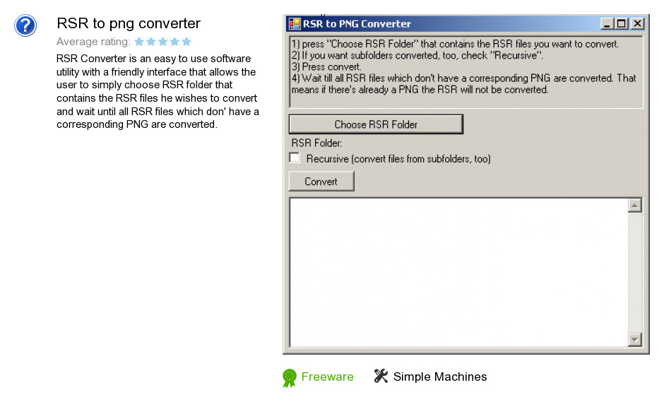 RSR to png converter