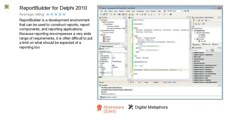 ReportBuilder for Delphi 2010