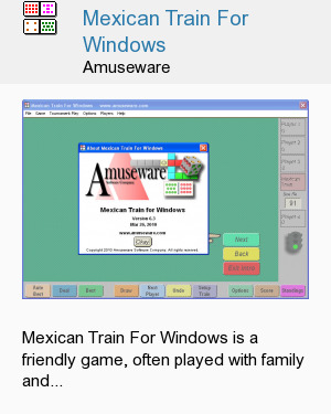 Mexican Train For Windows