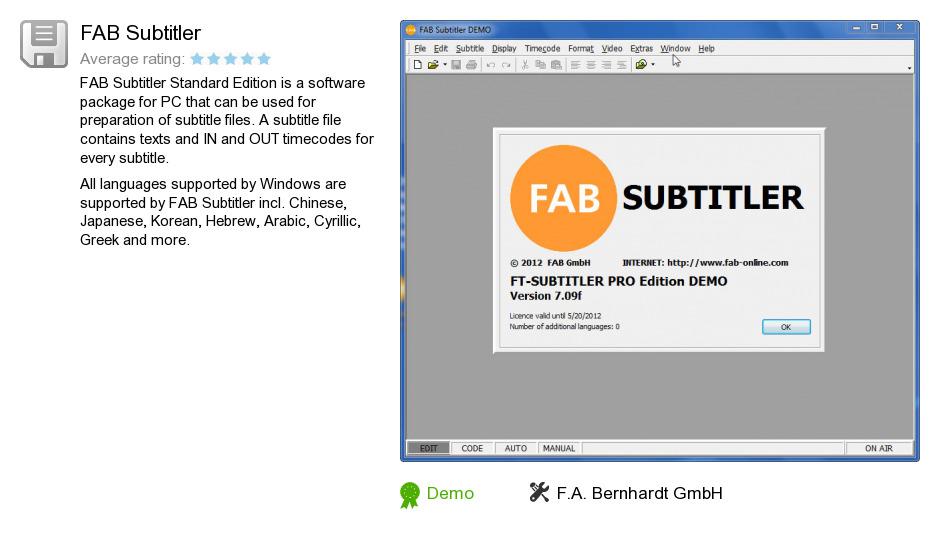 FAB Subtitler