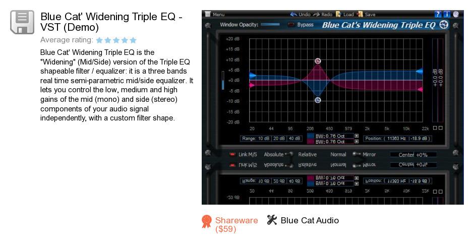 Blue Cat's Widening Triple EQ - VST (Demo)
