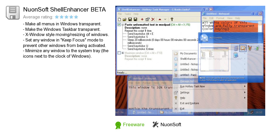 NuonSoft ShellEnhancer BETA