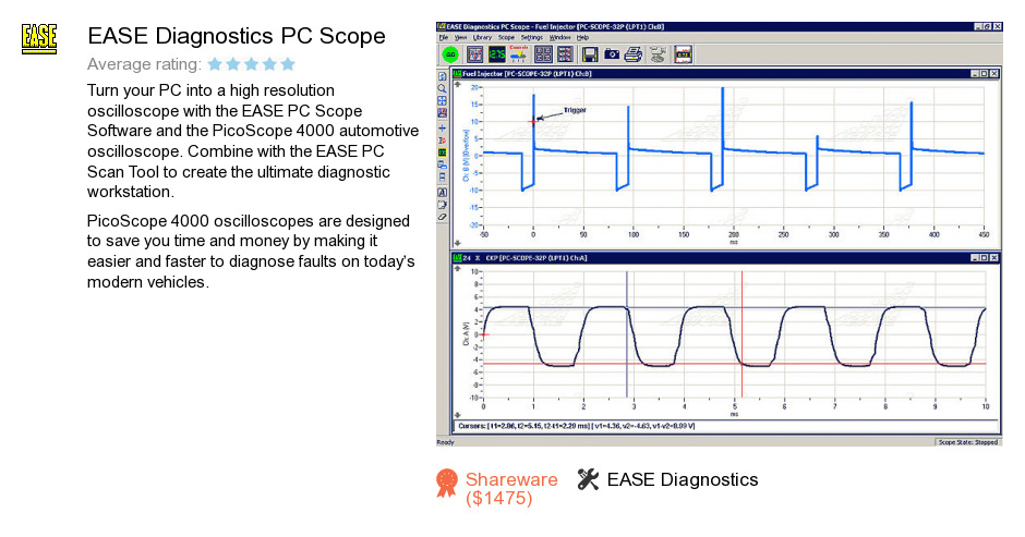 EASE Diagnostics PC Scope