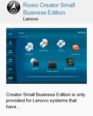 Roxio Creator Small Business Edition