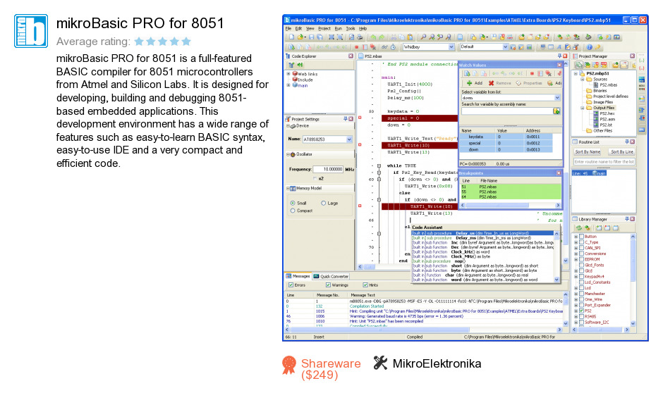 MikroBasic PRO for 8051
