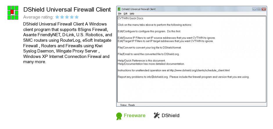 DShield Universal Firewall Client