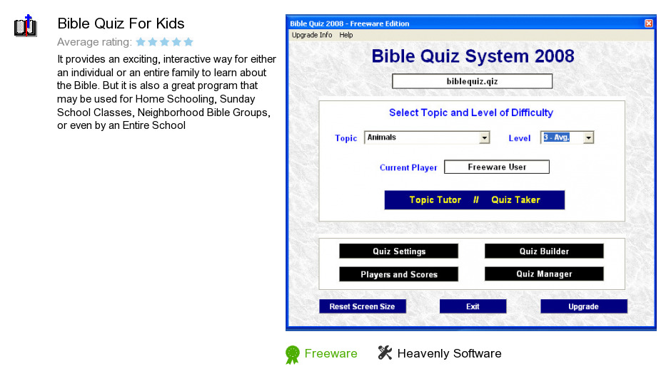 Bible Quiz For Kids