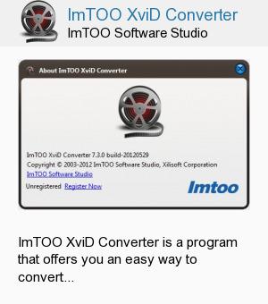 ImTOO XviD Converter