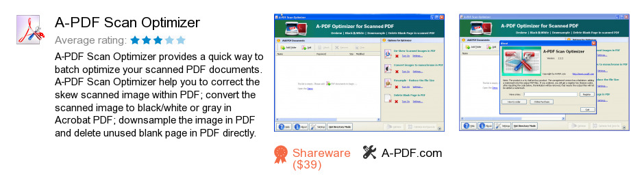 A-PDF Scan Optimizer