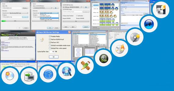 Software collection for Blu Ray Cases Vector