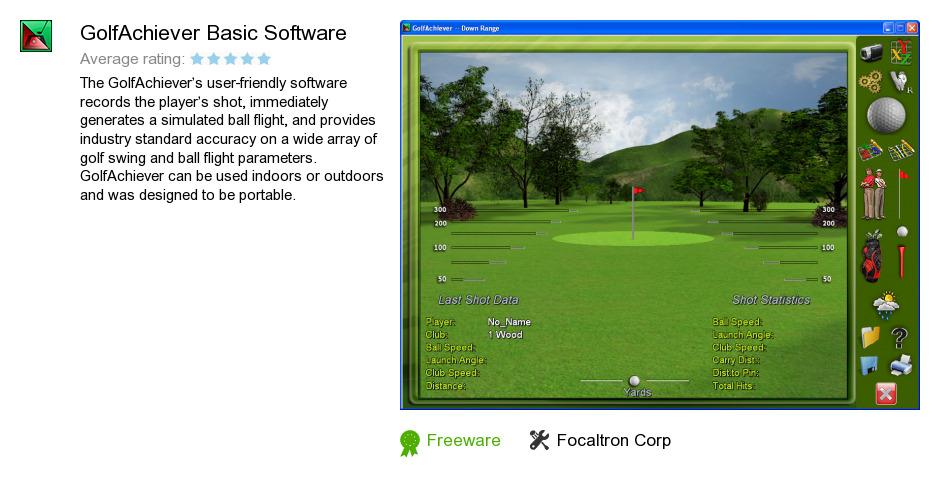 GolfAchiever Basic Software