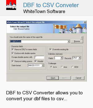 DBF to CSV Conveter