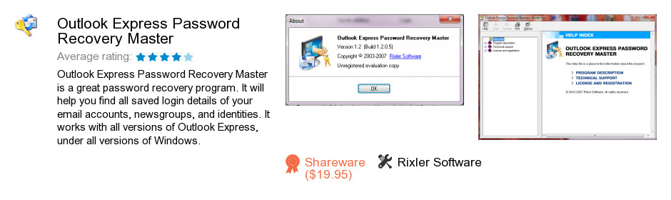 Outlook Express Password Recovery Master