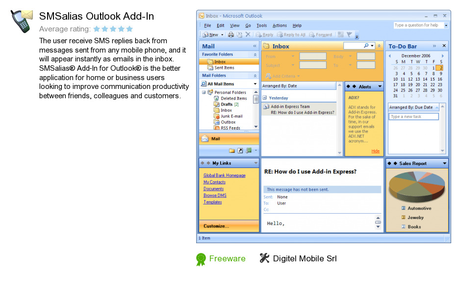 SMSalias Outlook Add-In