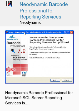 Neodynamic Barcode Professional for Reporting Services