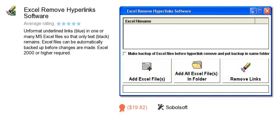 Excel Remove Hyperlinks Software