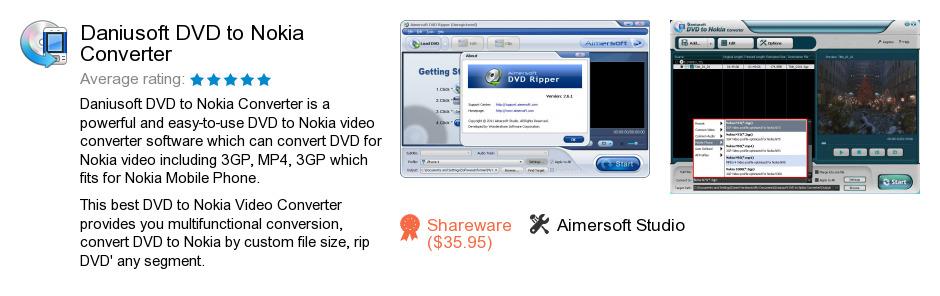 Daniusoft DVD to Nokia Converter