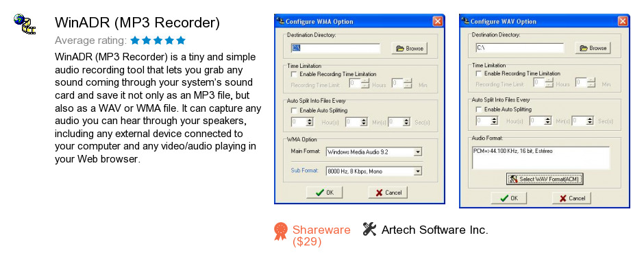 WinADR (MP3 Recorder)
