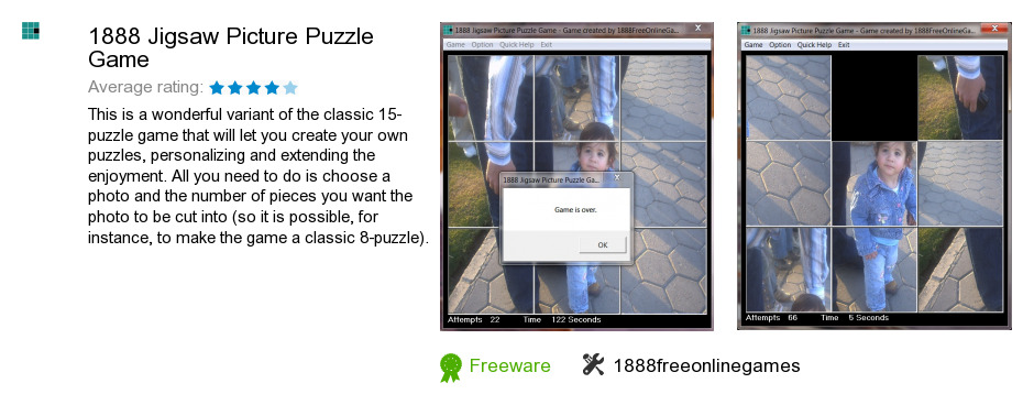 1888 Jigsaw Picture Puzzle Game