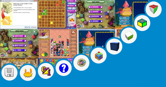 Software collection for Puzzles Cube Games